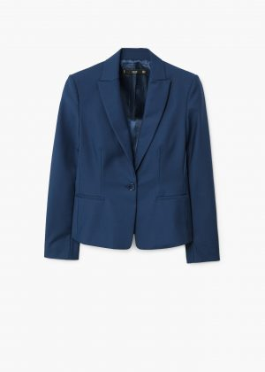 mango blazer blue