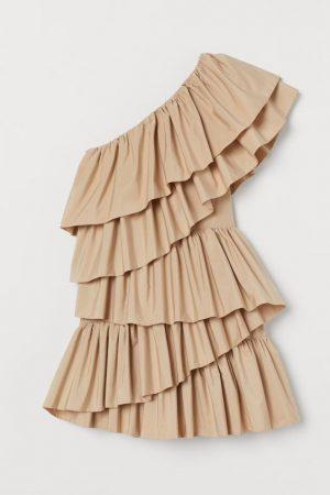 Flounced cocktail dress