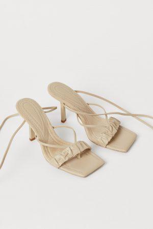 Tie-strap sandals