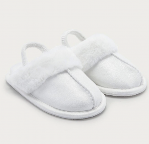 The White Company London Sparkle Mule White Slippers