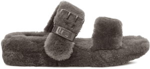 UGG fuzz yeah slippers in charcoal