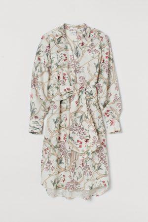 H&M x Johanna Ortiz Linen shirt floral dress