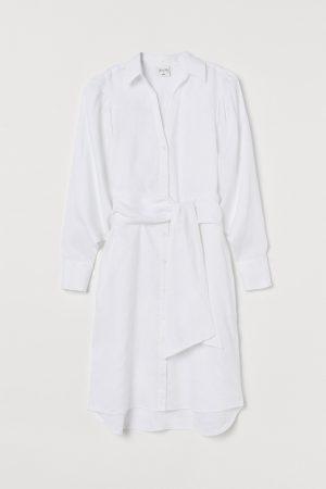 H&M x Johanna Ortiz Linen shirt white dress