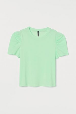 Puff-sleeved T-shirt