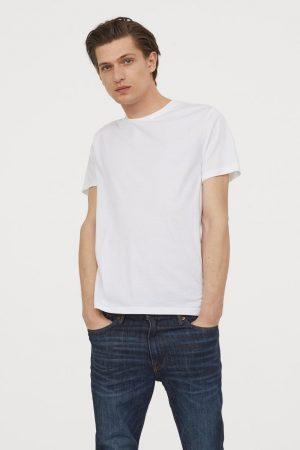 Round-neck T-shirt Regular Fit White