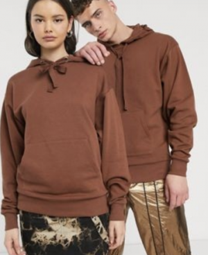 COLLUSION Unisex hoodie in brown