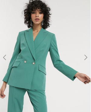 Topshop blazer in mint co-ord
