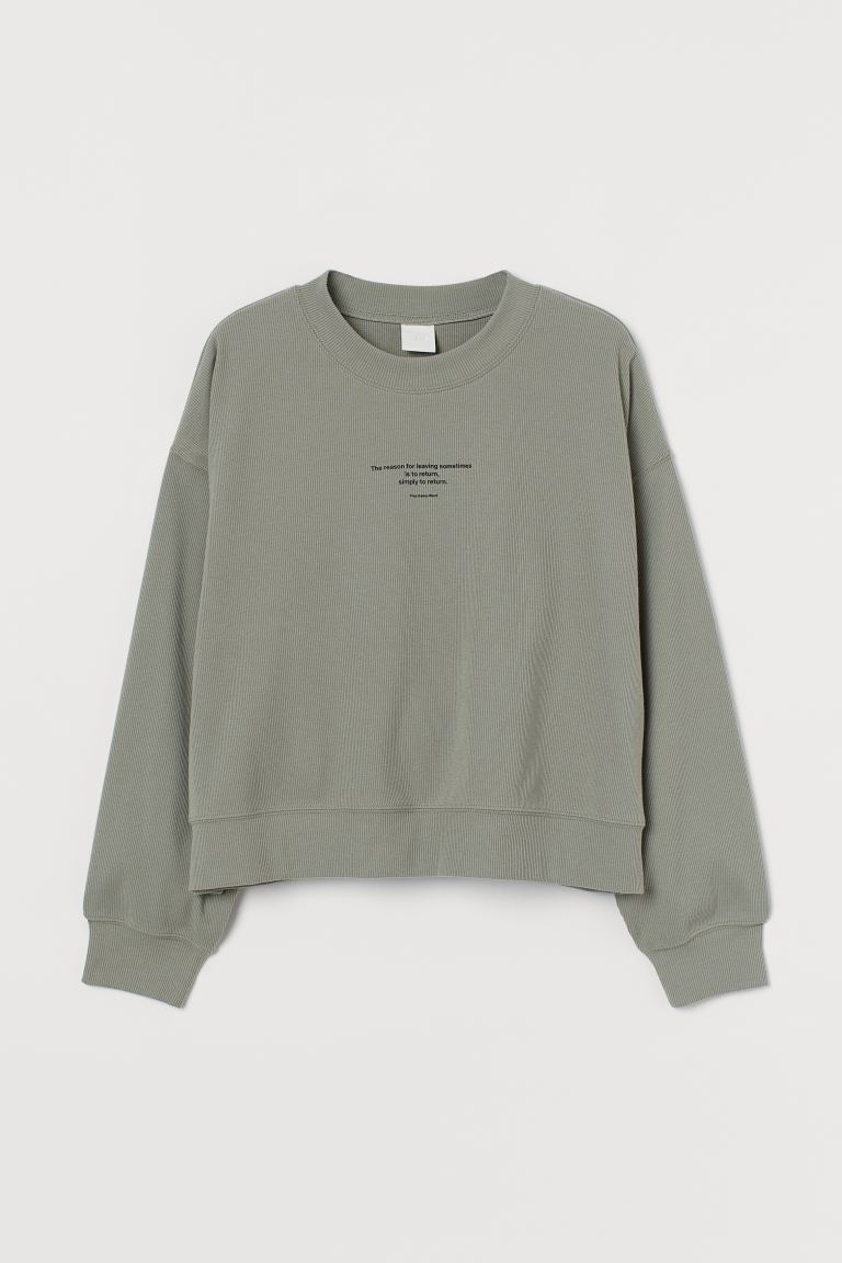 Jersey sweatshirt Khaki green/Yrsa Daley-Ward